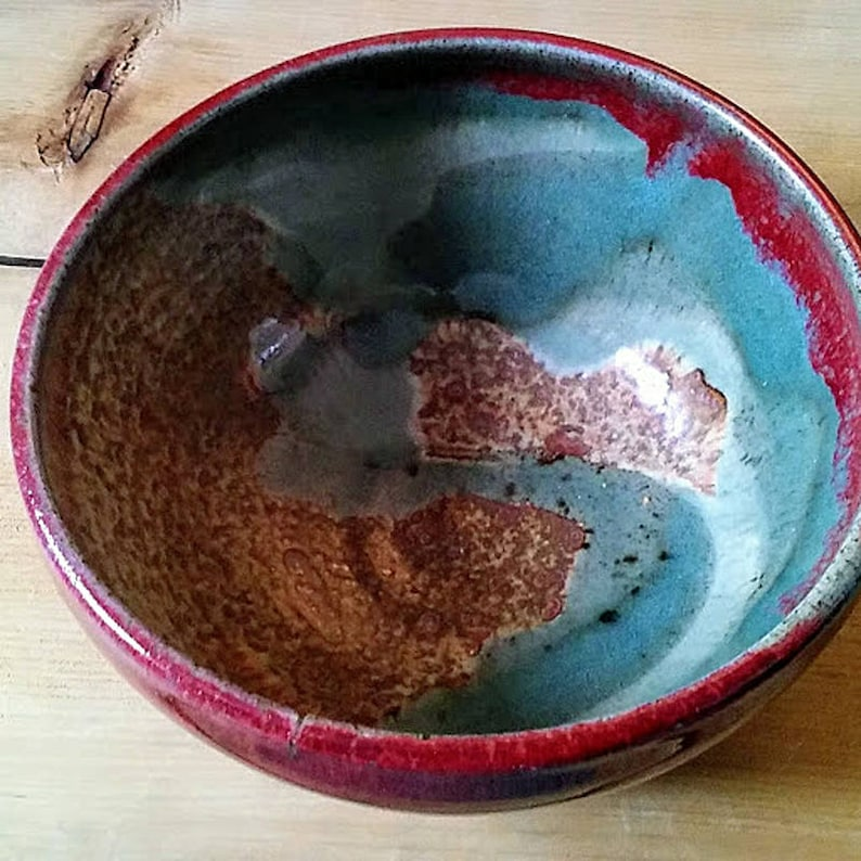 Wattlefield Pottery   Turquoise copper red and speckled image 0