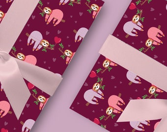 Classy sloths wrapping paper