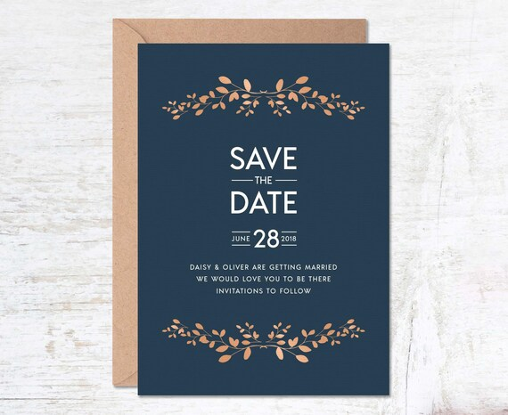navy save the date save the date template save the date etsy