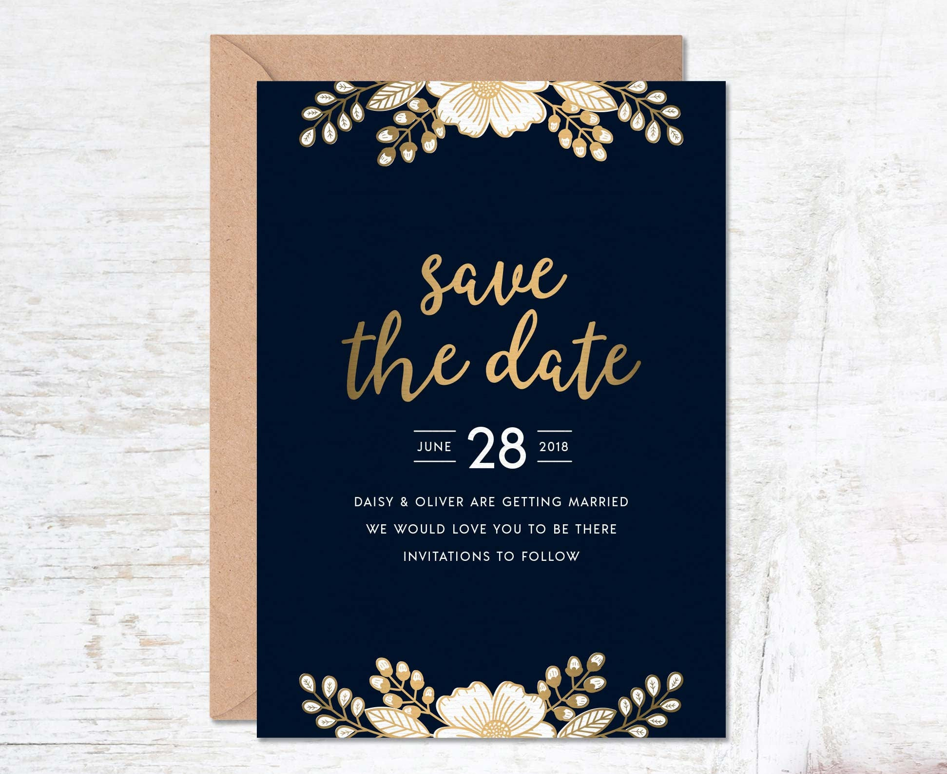 Wedding Invitation Save The Date: Gold Save The Date Save The Date Template Wedding