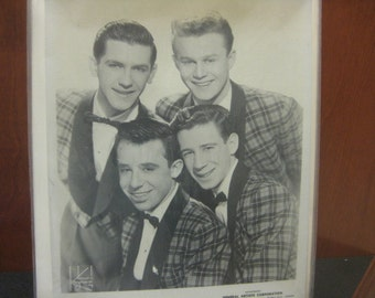 The Four Lads 1950s Singing Group Head Shot Promotional Photo