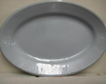 NY, NH & H RR Dining Car Restaurant Platter, Buffalo China, 1930s