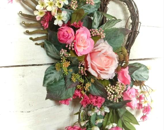 Elegant Heart Wreath, Heart Swag, Etsy Valentine Wreath, Etsy Heart Wreath