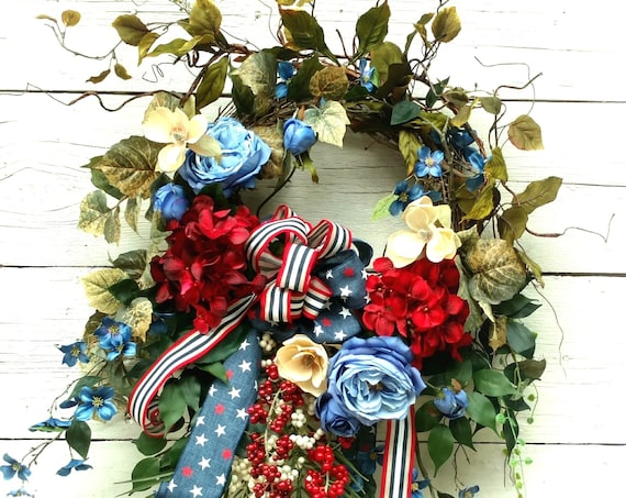 Patriotic Wreath,Military Wreath,4th of July Wreath,Front Door Patriotic,Patriotic Swag,Military Swag,4th of July Swag,Door Military