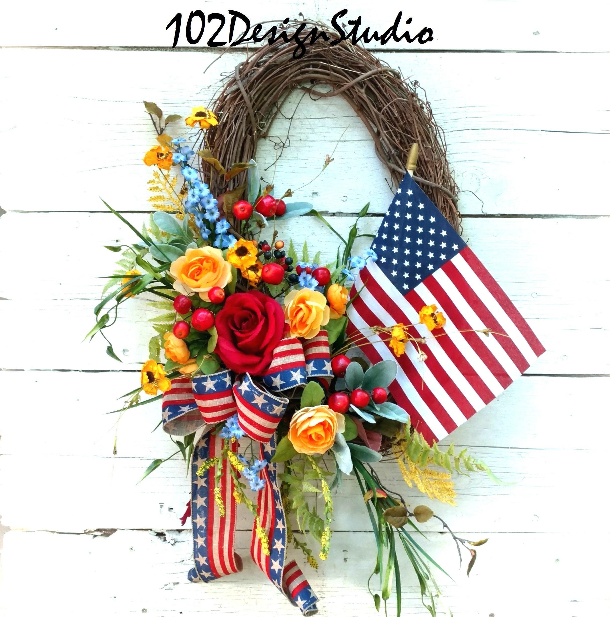 Patriotic Wreathpatriotic Swagmilitary Wreathmilitary Swag