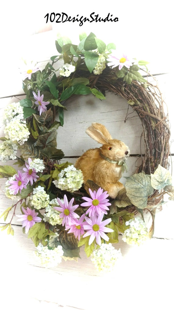 Easter Wreath, Bunny Wreath, Spring Wreath, Easter Swag,Bunny Swag,Spring Wreath,Mother's Day Wreath,Woodland Bunny Wreath,Front Door Spring