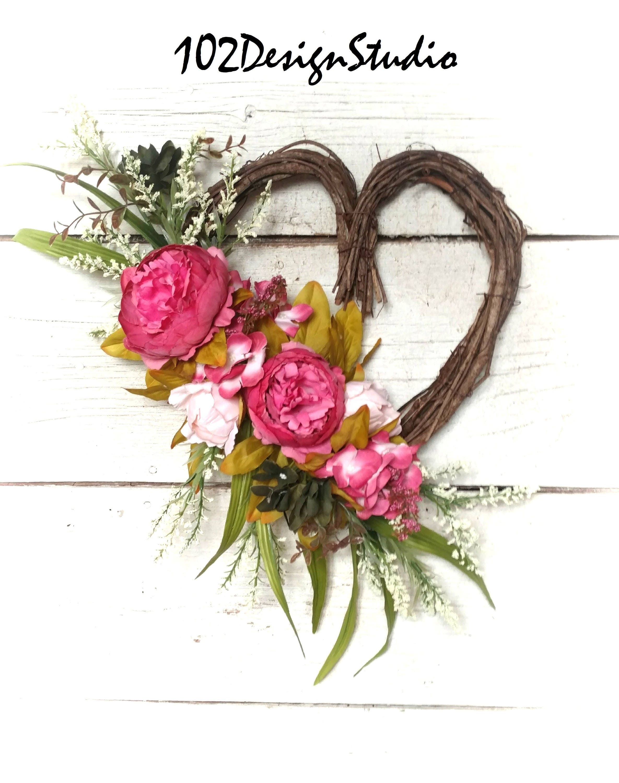 Valentine Wreathvalentines Wreathromantic Wreathvalentine Front