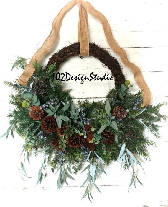 Farmhouse Wreath, Farmhouse Swag, Farmhouse Wall, Rustic Wreath, Cabin Wreath, Lodge Wreath, Cottage Wreath, Country Wreath,Woodland Wreath