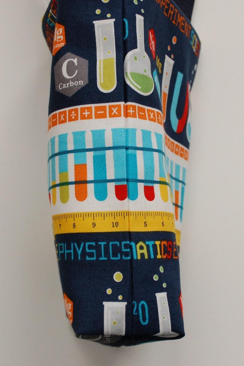Laboratory Stripe on Blue Science Fabric Gift Bag