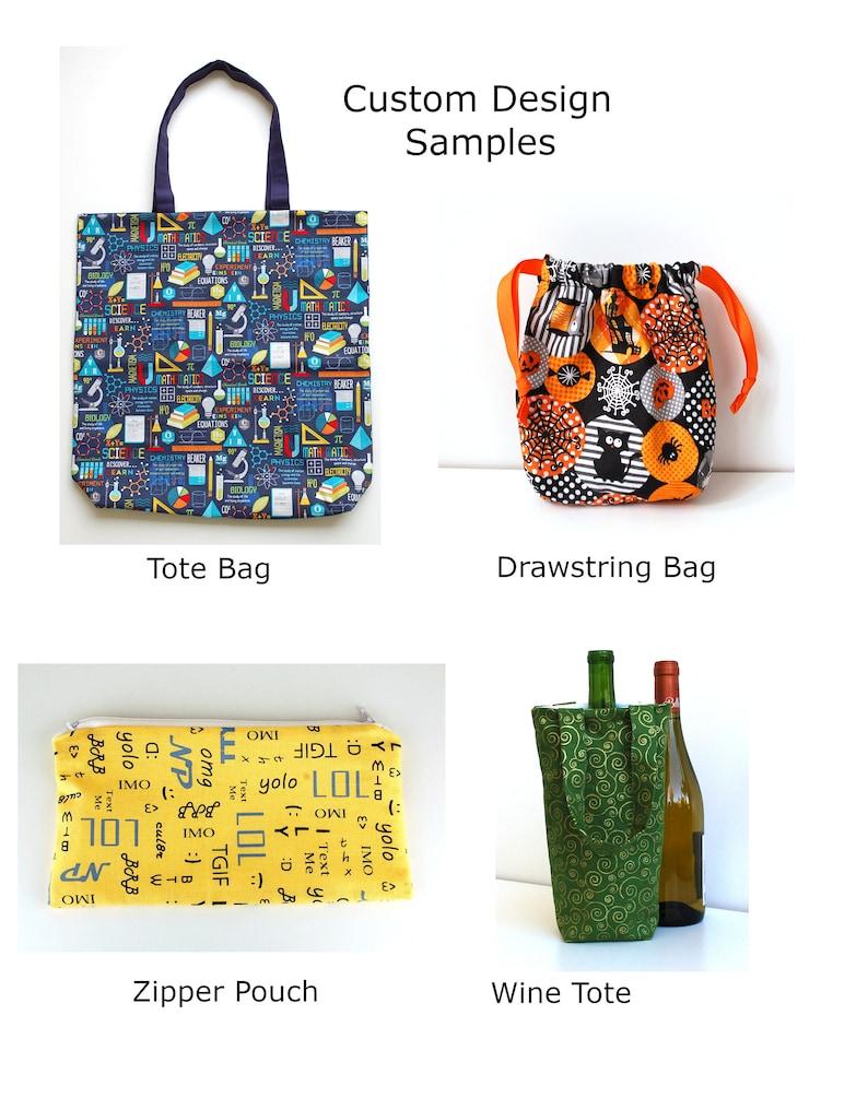 Fabric Gift Bag Rainbow Hearts and Thunderbolts