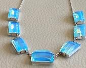 1950s Glass Necklace Vint...