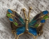 1950s Silver Butterfly Br...
