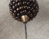 1930s Glass Hatpin Vintag...