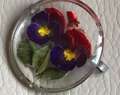 1940s Pansy Brooch Revers...
