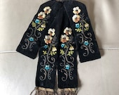 Antique Velvet Jabot Fren...