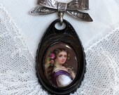 Antique Portrait Brooch P...