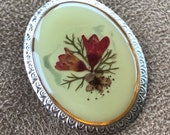 1950s Dried Flower Brooch...