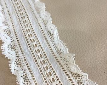 Vintage White Braid Trim 30m