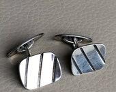 925 Silver Cufflinks Vint...