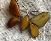 Amber Brooch Butterfly Br...