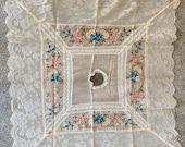 Antique Silk Lace Embroid...