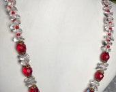 Vintage Necklace 1940s Gl...