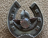 Antique Silver Brooch Eng...
