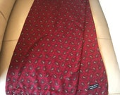 1960s Gents Scarf Red Pai...