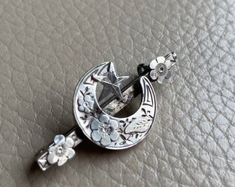 Antique Silver Brooch Victorian brooch Hallmarked Silver 1890 Lucky Horseshoe   Brooch Bridal Brooch Pin Antique Jewelry Old