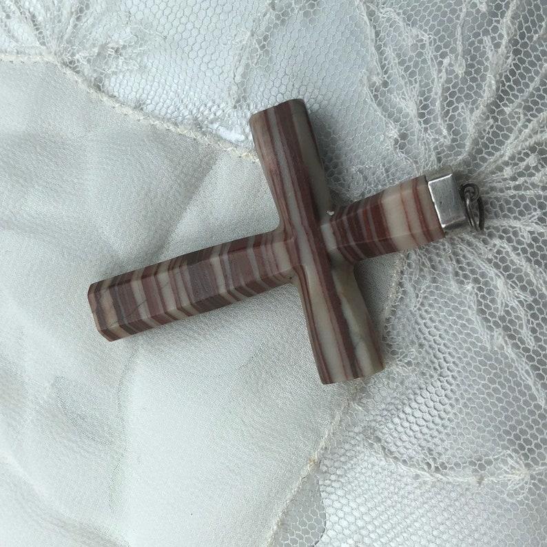 Antique Agate Cross 900 coin silver crucifix 1850s Cross 1840s Crucifix Silver Mounted Cross Carved Agate 19th Century Pendant Jewelry