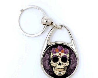 Set of 2 Mermaid Skeleton Keychains Gothic Accessory Weird Punk Day of the Dead