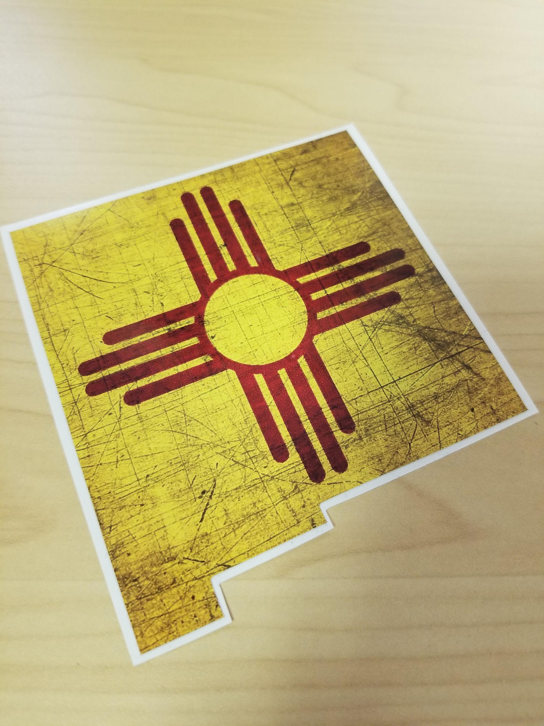 New Mexico Zia Flag Decal/New Mexico Car Decal/State Decal/NM ...