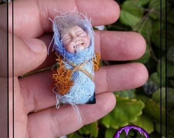 Fairy Baby, change fairy, magic Fairy, pocket Fairy, Polymer clay representation