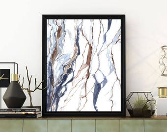 Printable marble wall art, marble print, abstract print, watercolor print, abstract watercolor art, marble painting, watercolor painting