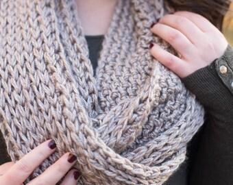 The Earl Grey Scarf * infinity scarf * knit scarf * knit cowl * crochet scarf * women's infinity scarf *scarf * winter style * women's scarf