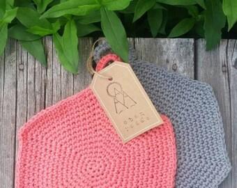 Potholder Set , Hexagon, Crochet, Modern Crochet, Modern Kitchen, Potholder, Heat Catcher, Hot Pads, Trivet
