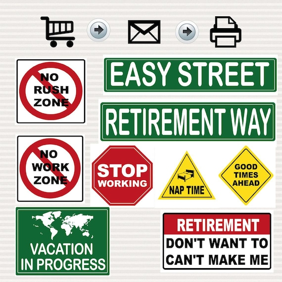 image regarding Printable Road Signs known as Retirement Bash Printable Indications Package - Street Symptoms - Drive Topic - Street Topic -Decoration - Targeted visitors Signs and symptoms - Printable - Instantaneous Obtain