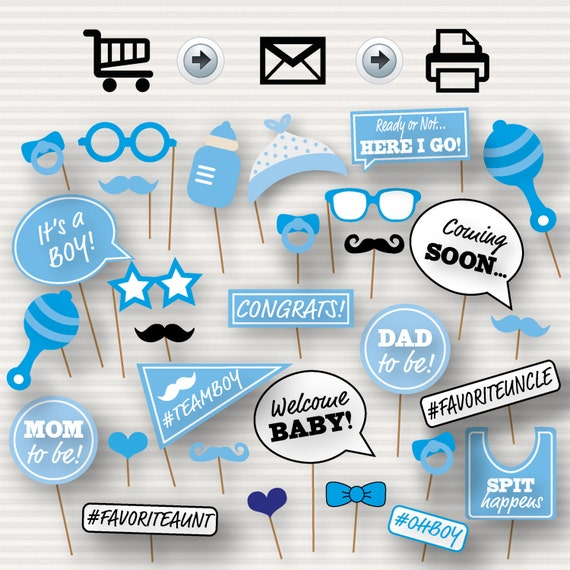 Baby Shower Printable Photo Booth Props Baby Shower Etsy