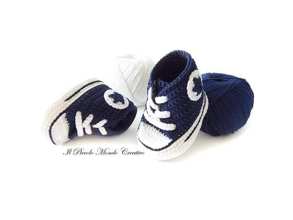 Gehäkelte Babyschuhe Häkeln Baby Converse Häkeln Etsy