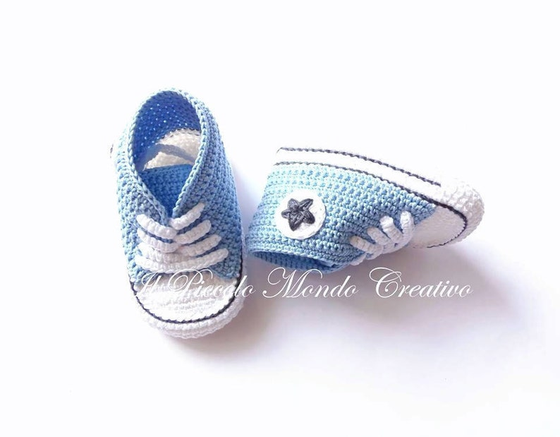 b130a1622629 Crochet Converse Baby Shoes Baby Boots Baby Converse