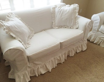 INSTANT DOWNLOAD: (HRS) Sofa / Love Seat Slipcover   High Back Rolled  Arm Square Deck Measuring Guide Download