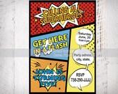 Artículos Similares A Superhero Invitacion Cumpleaños