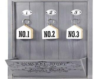 Key box holder Hanger Farmhouse Key Box Keybox Wooden Key Box Key Hanger Keys Hanger Key Hook Key Chain Gray Key Box Big Key Box Letter Box Shabby Chic Etsy Key Cabinet Etsy