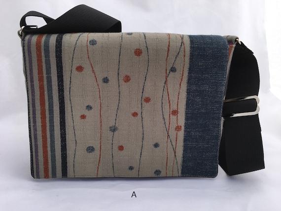 796e81997e Small messenger bag crossbody bag gray Japanese fabric