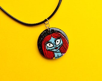 Nightmare Before Christmas Sally Necklace, Spooky Jewellery, Halloween Gifts