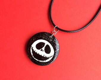 Nightmare Before Christmas Inspired Jack Skellington Necklace, Spooky Jewellery, Halloween Gifts