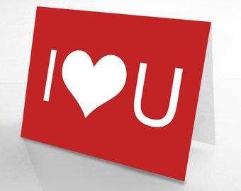 I Heart U Love Card