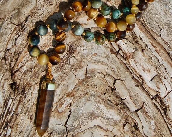 Be Brave Light Warrior Crystalline Nectar Mala with Pendant