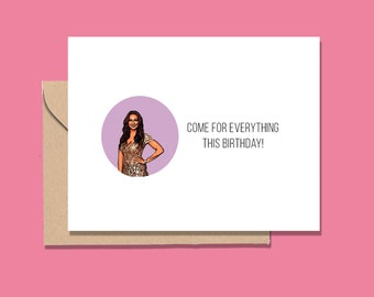 Eboni K. Williams RHONY inspired card / RHONY card /Eboni K Williams / Eboni birthday card / Bravo Housewives card