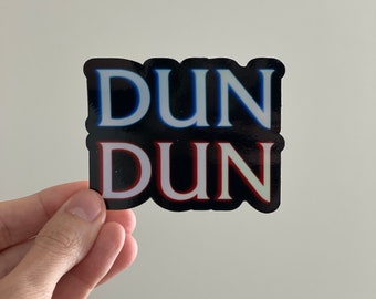 Law and Order inspired sticker, holographic pop culture sticker, benson inspired sticker, dun dun sticker